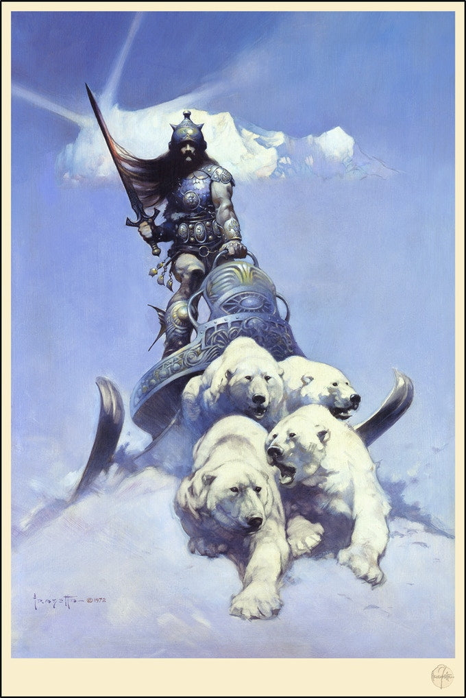 "Frank Frazetta - ""Silver Warrior"""