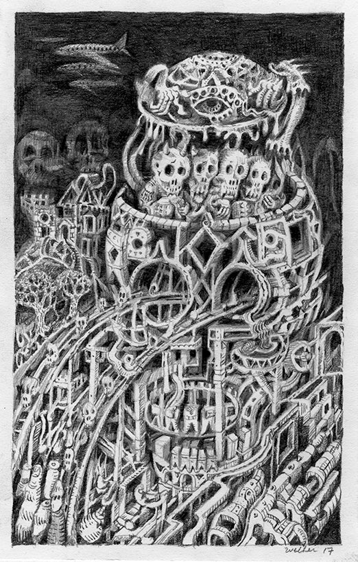 "David Welker - ""Skull Factory"" - Spoke Art"