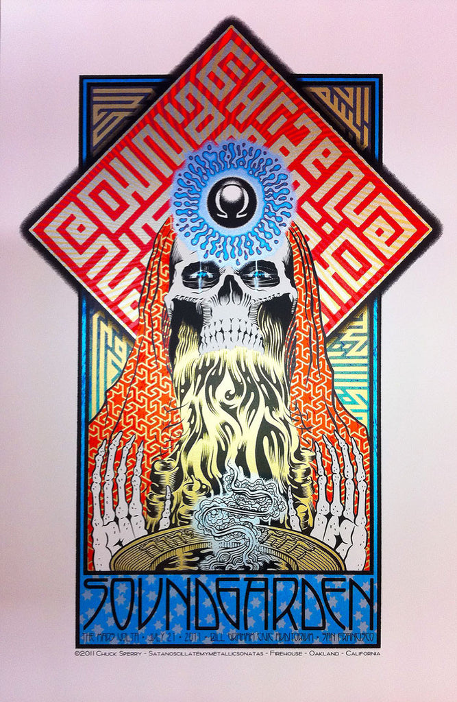 Chuck Sperry - Soundgarden, The Mars Volta, Bill Graham Civic Auditorium, San Francisco, July 21, 2011 (Artist Edition)