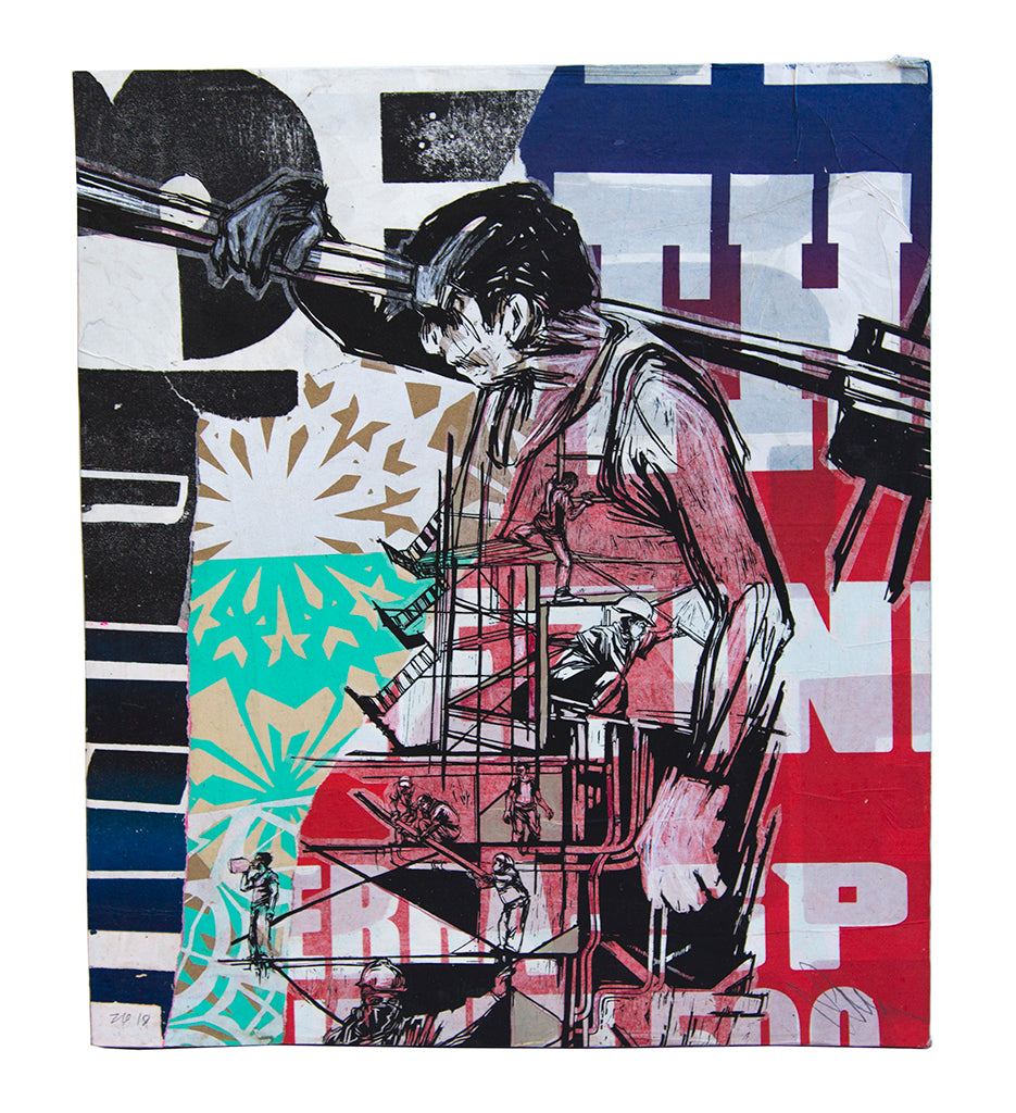 "Swoon - ""Construction Worker"" - Spoke Art"