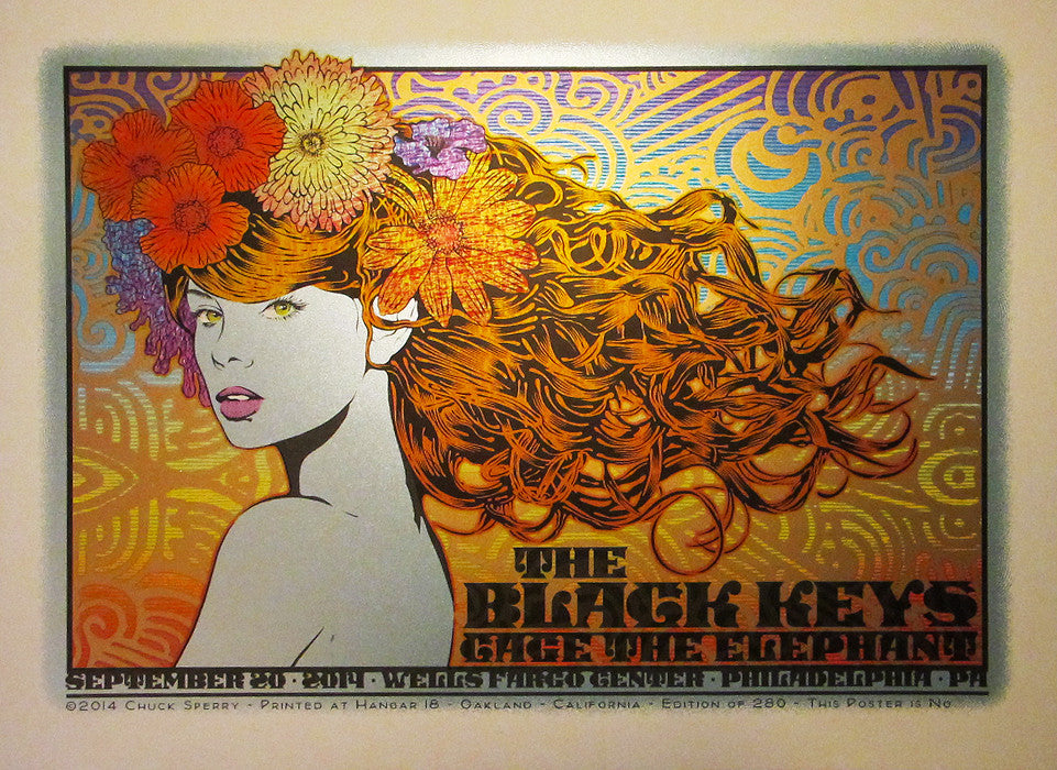 "Chuck Sperry - ""The Black Keys, Philadelphia, 2014"" - Spoke Art"
