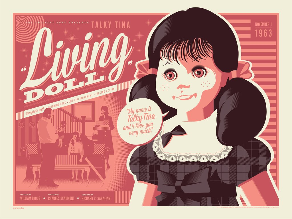 "Tom Whalen - ""Living Doll"" - The Twilight Zone - Spoke Art"