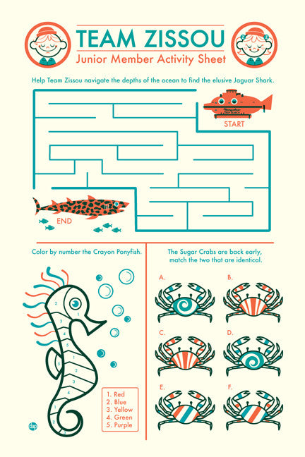 "Dave Perillo - ""Team Zissou Activity Sheet"""