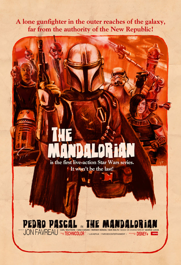 "Scott Hopko - ""The Mandalorian - 1960s"" - Spoke Art"