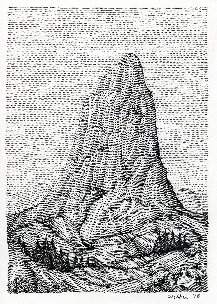 "David Welker - ""The Butte"" - Spoke Art"