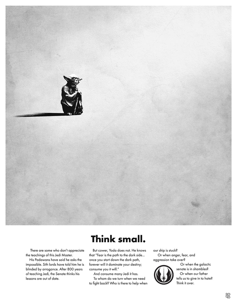 "Justin Van Genderen - ""Think Small - Yoda"" - Spoke Art"