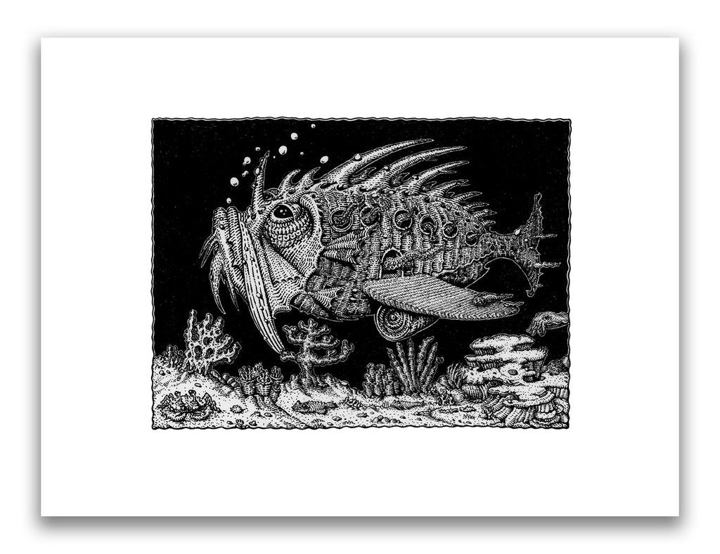 "David Welker - ""The Transport Fish"" (print) - Spoke Art"