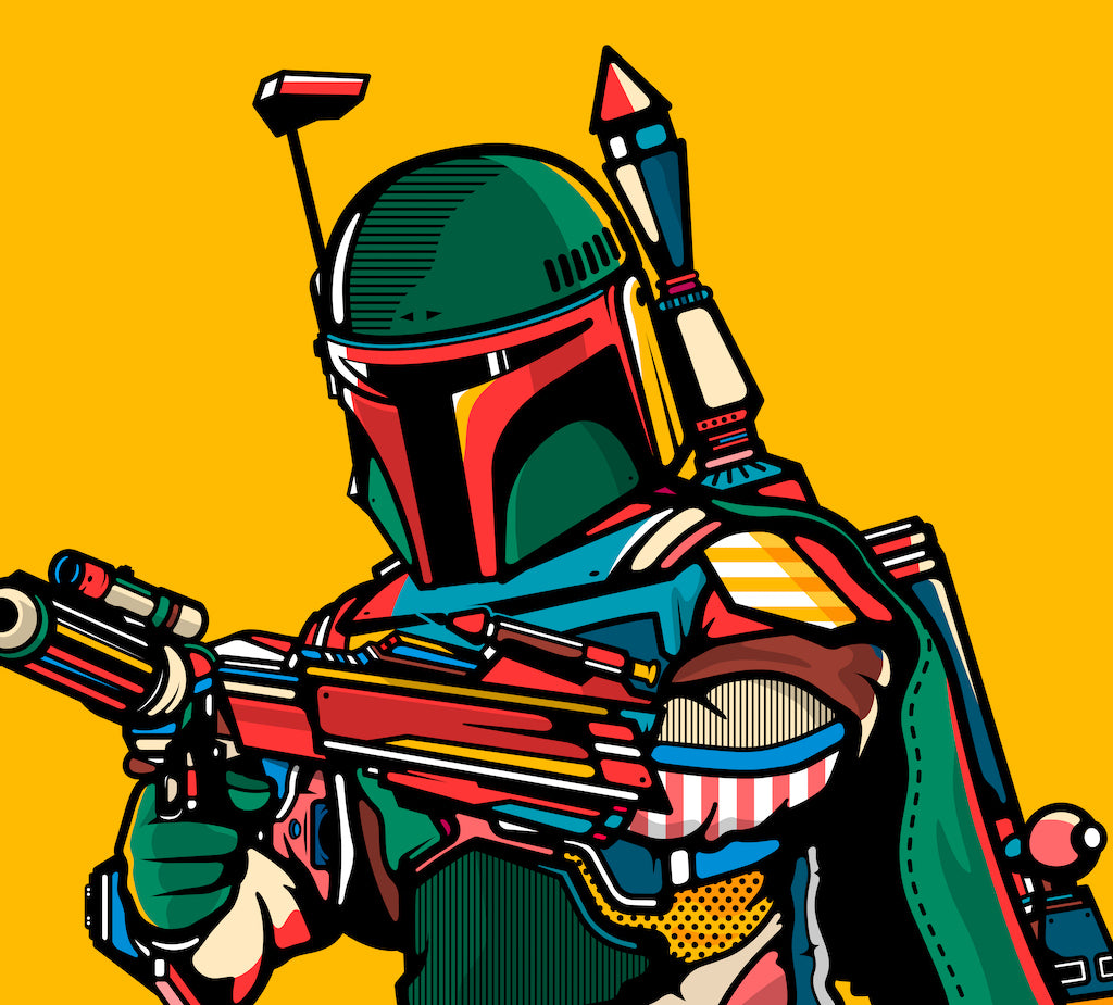 "Van Orton Design - ""Boba Fett"" - Spoke Art"