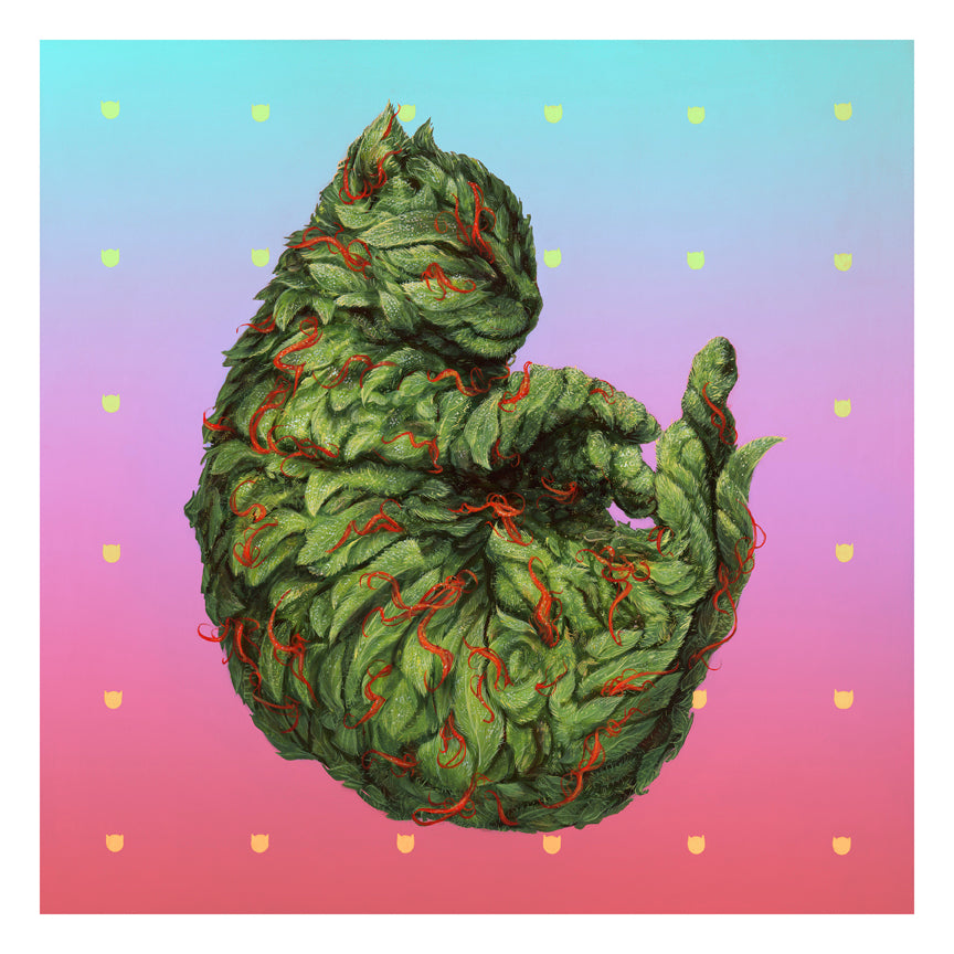 "Casey Weldon - ""Meowijuana"" print - Spoke Art"