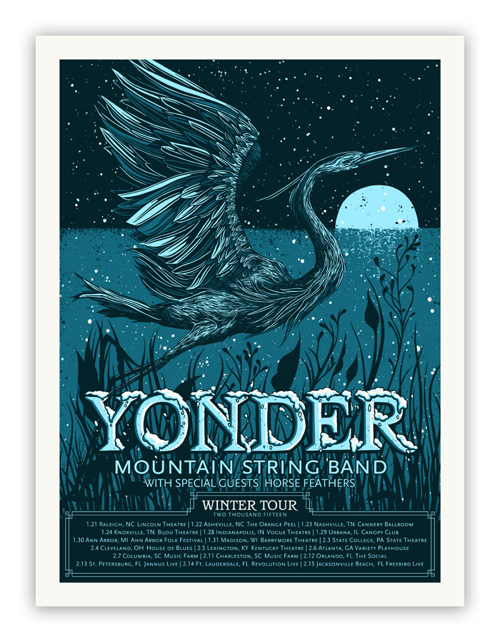 Bungaloo - Yonder Mountain String Band - Spoke Art