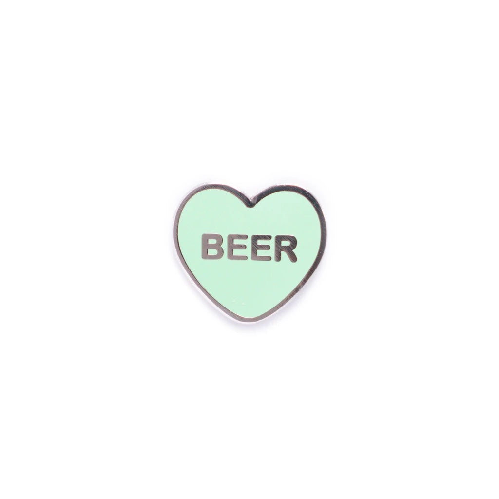 Beer Candy Heart Enamel Pin - Spoke Art