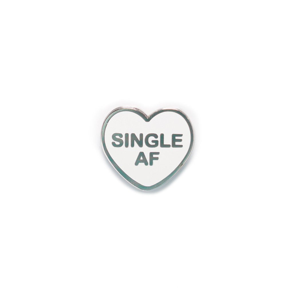Single AF Candy Heart Enamel Pin