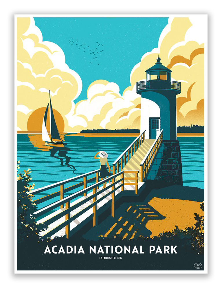 "Telegramme Paper Co. - ""Acadia National Park"" - Spoke Art"