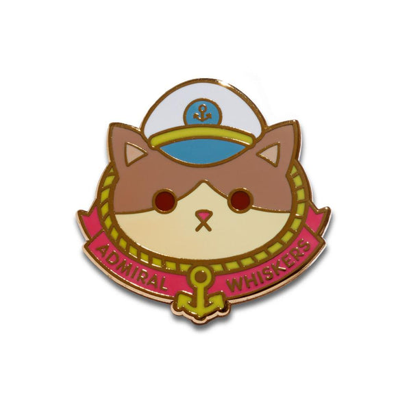 """Admiral Whiskers"" Enamel Pin"