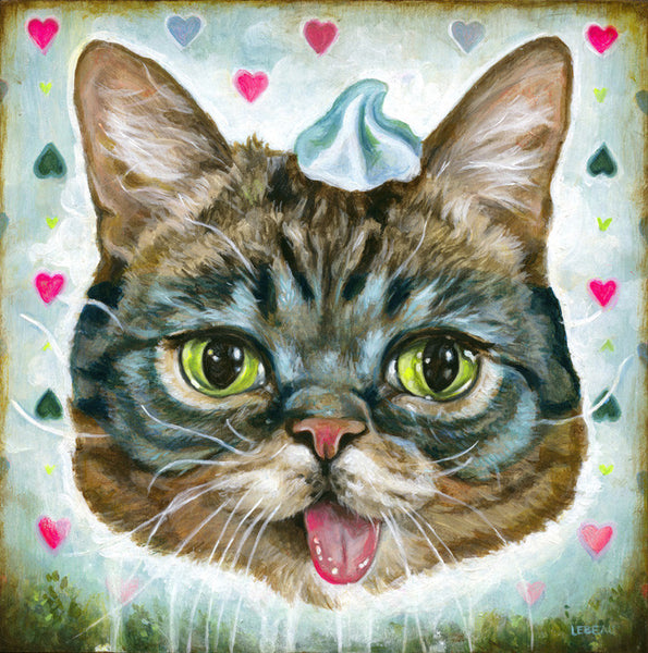 "Edith Lebeau - ""Lil Bub loves her space yogurt"""
