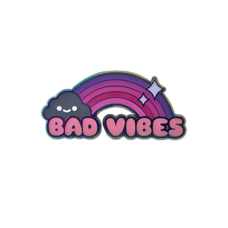 Bad Vibes Enamel Pin - Spoke Art