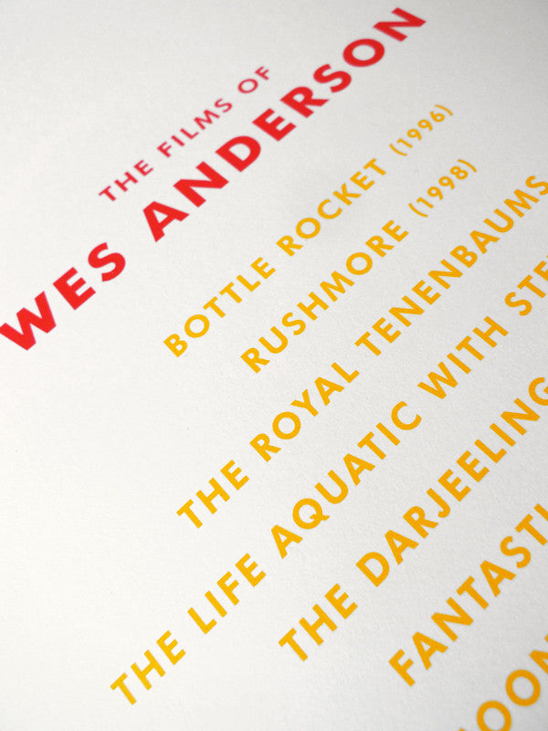 "DKNG - ""The Films of Wes Anderson"" - Spoke Art"