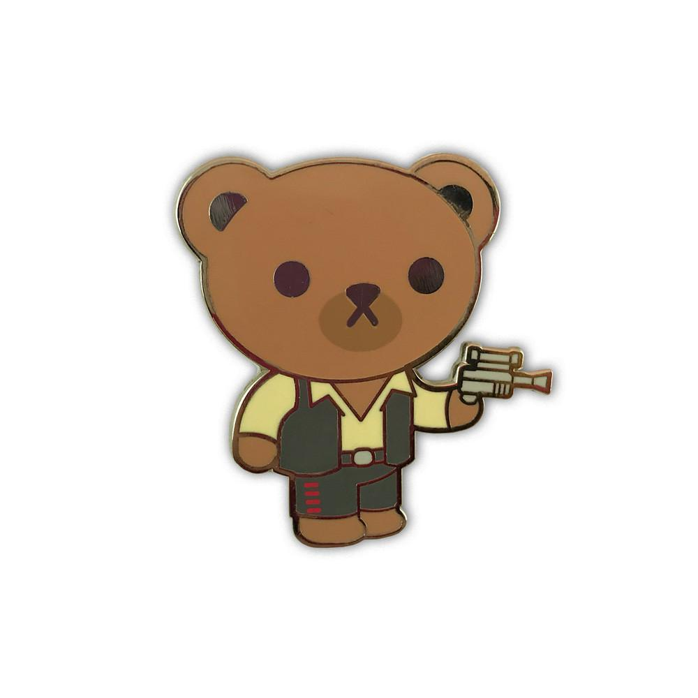 """Bearison Ford - Bear Solo"" Enamel Pin - Spoke Art"