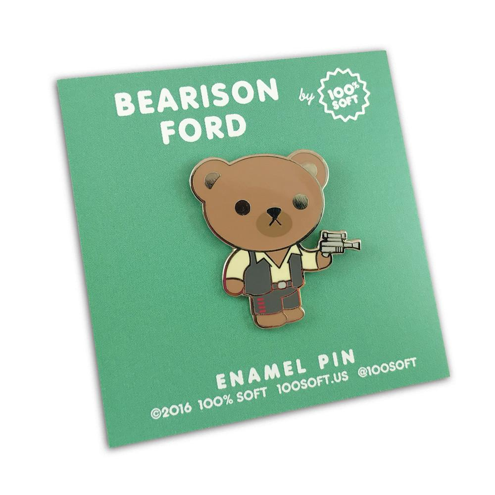 """Bearison Ford - Bear Solo"" Enamel Pin"