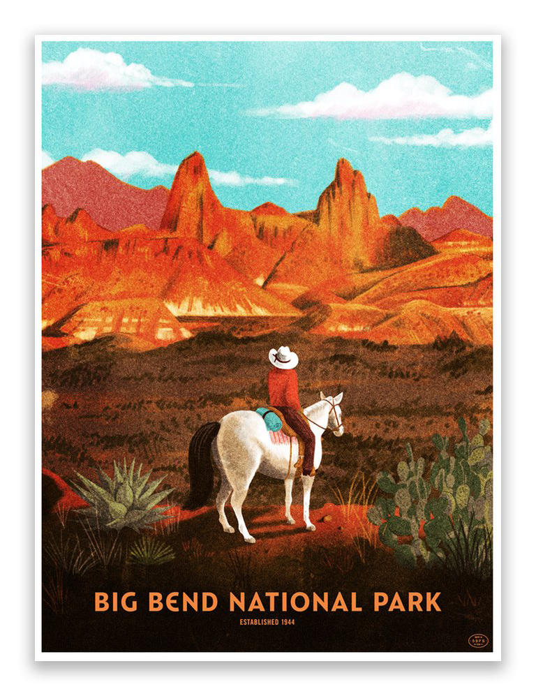 "Brave the Woods - ""Big Bend National Park"" - Spoke Art"