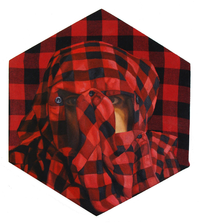 "Peter Adamyan - ""Camouflage Red Flannel"""
