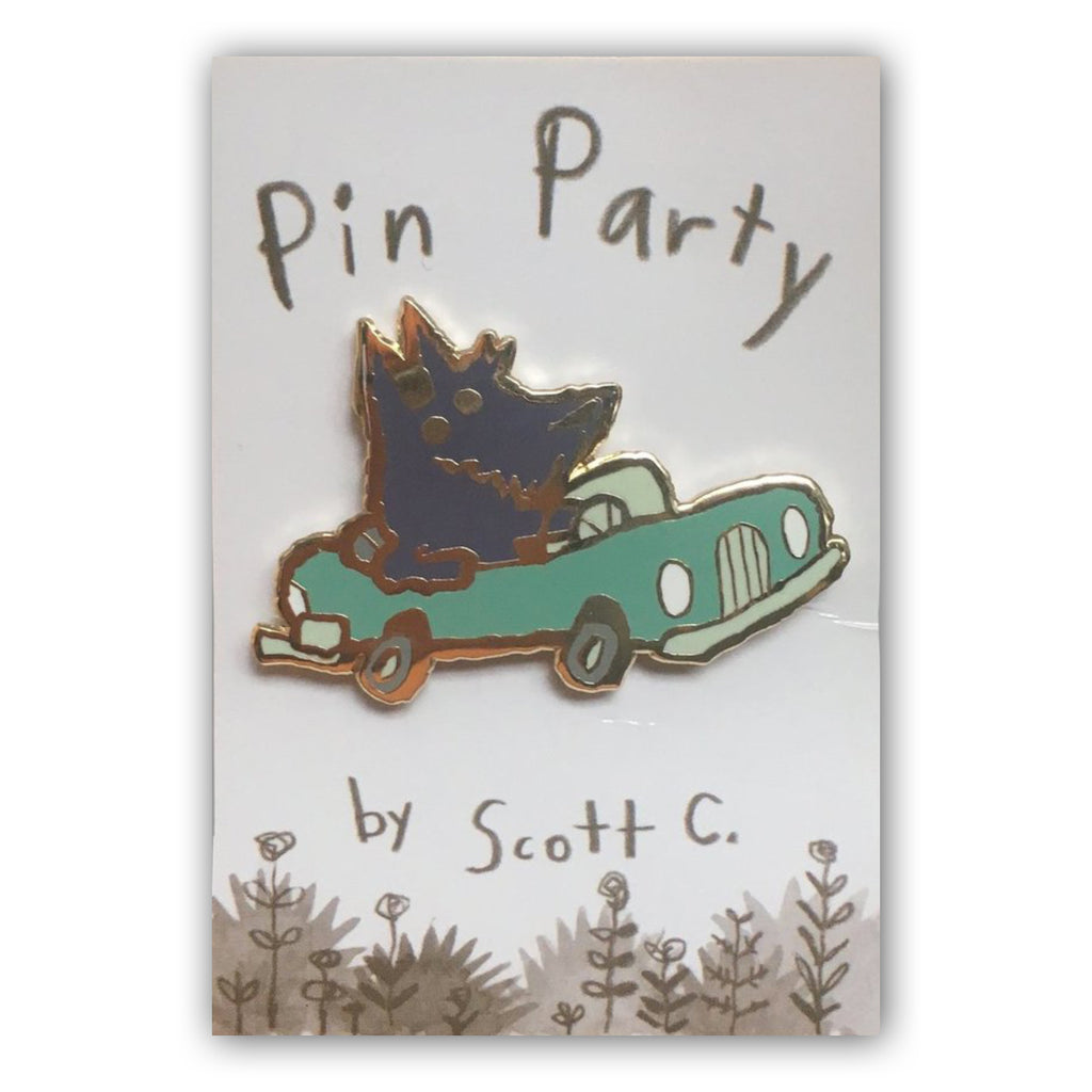 Car Dog Pin