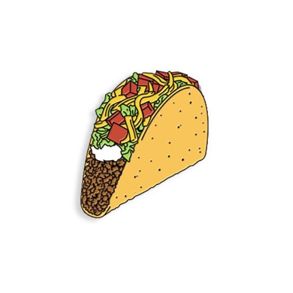 Crunchy Taco Enamel Pin - Spoke Art