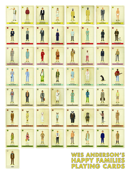 "Max Dalton - ""Wes Anderson's Happy Families Playing Cards"""