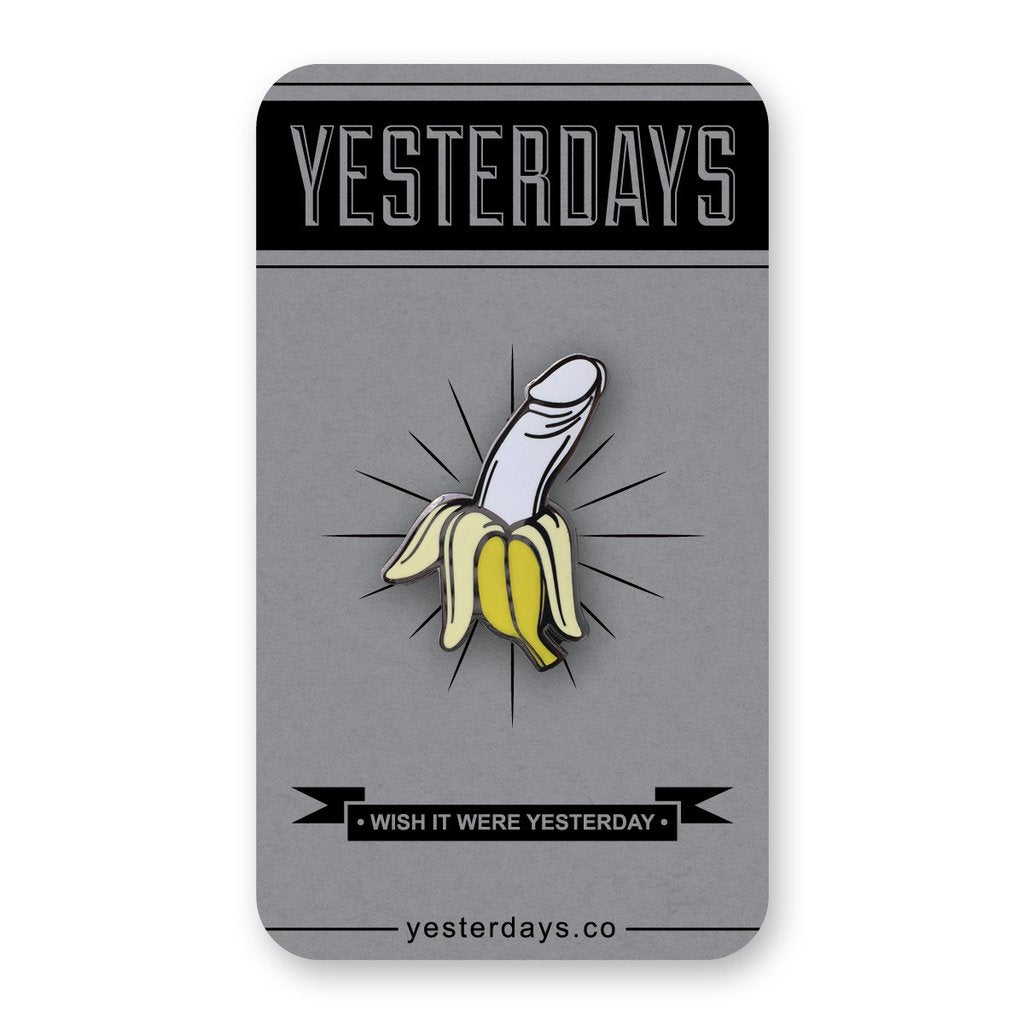 Dick Banana Enamel Pin - Spoke Art