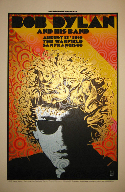 "Chuck Sperry - ""Bob Dylan and His Band at The Warfield"" - Spoke Art"