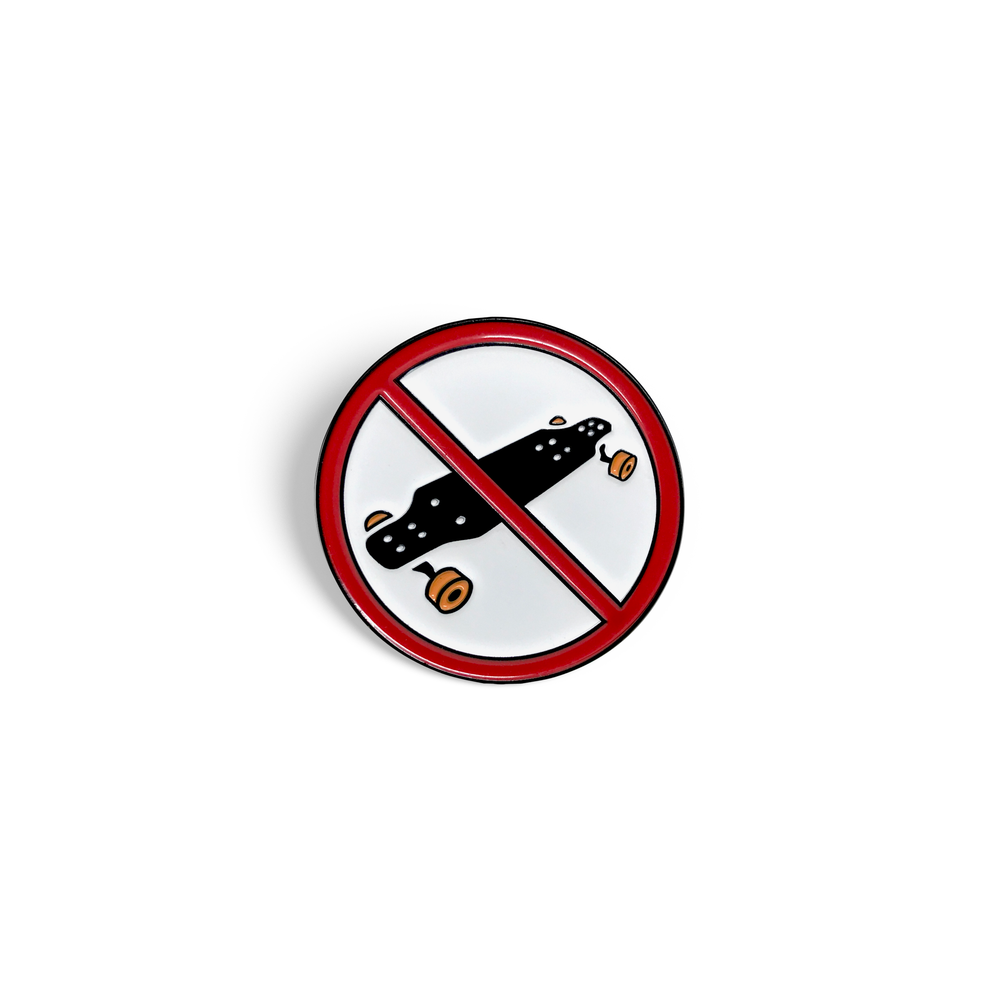 Electric Skateboarding Enamel Pin