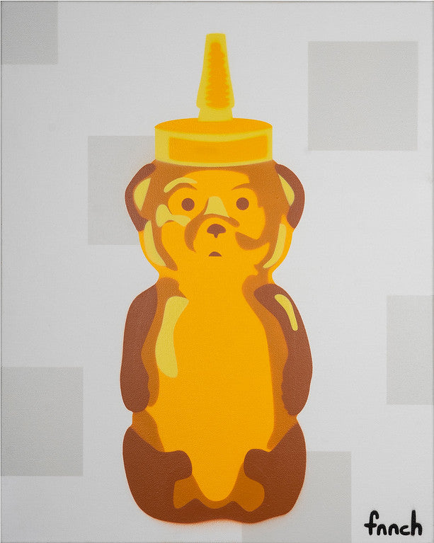 "Fnnch ""Honey Bear on Squares"" - Spoke Art"