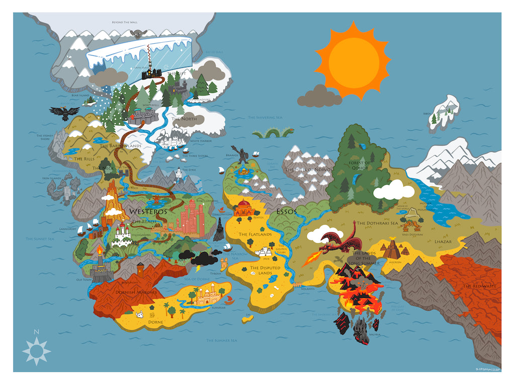 "Andy Stattmiller  - ""A Map of Ice and Fire"""