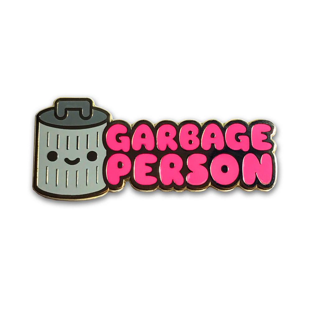 Garbage Person Enamel Pin - Spoke Art