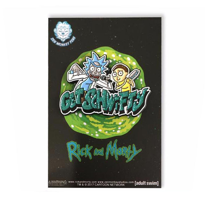 Get Schwifty - Rick And Morty Enamel Pin