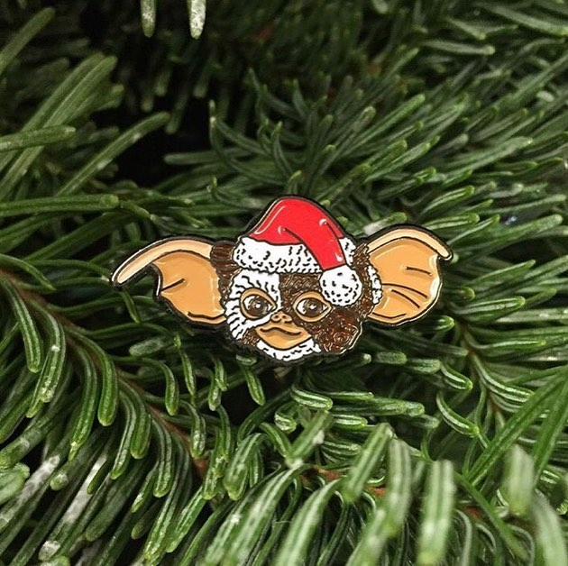 Gizmo Claus Enamel Pin - Spoke Art