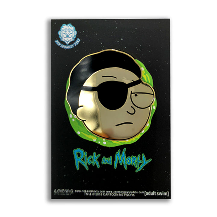 Golden Evil Morty - Rick And Morty Enamel Pin