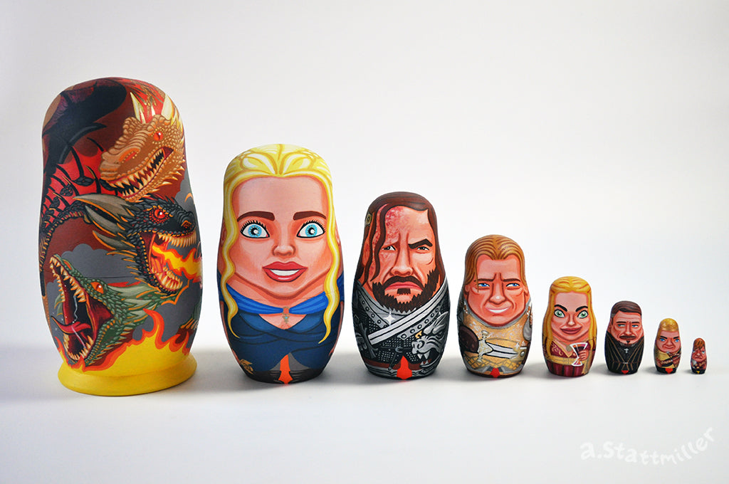 "Andy Stattmiller - ""Game of Thrones Nesting Dolls - Fire Set"""