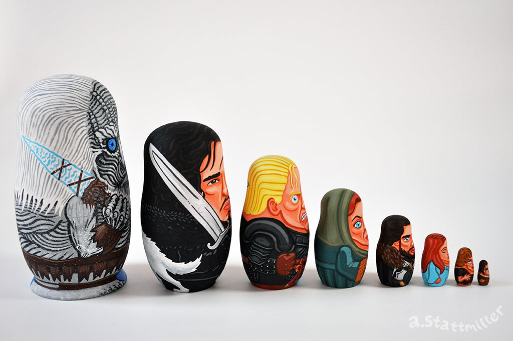 "Andy Stattmiller - ""Game of Thrones Nesting Dolls - Ice Set"""
