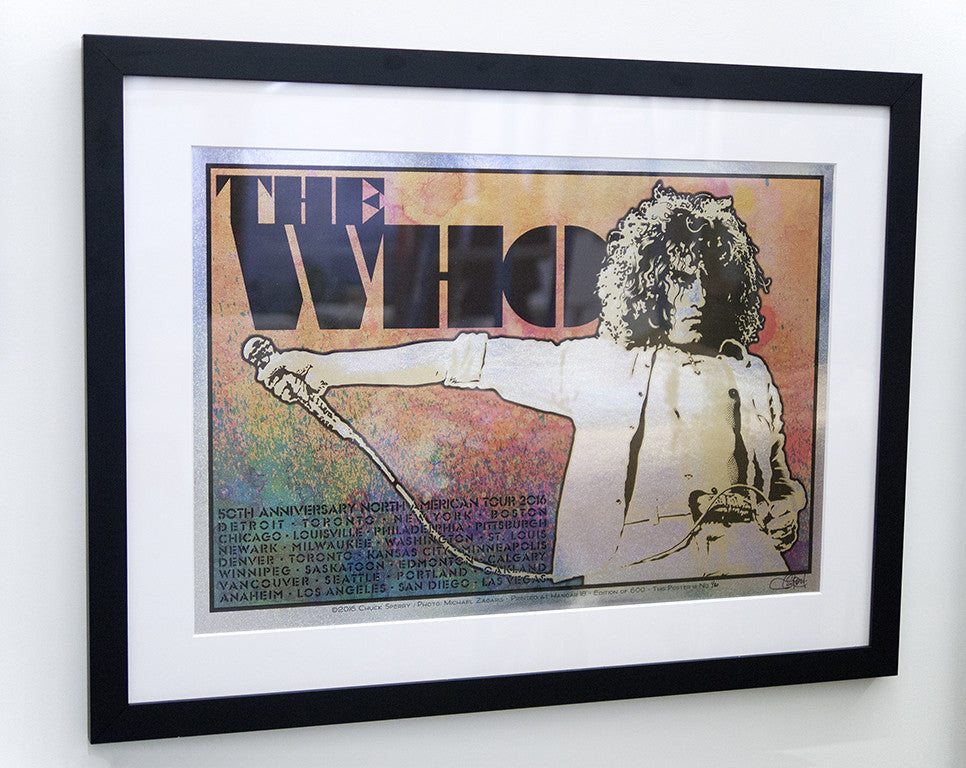 "Chuck Sperry - ""The Who, 50th Anniversary North American Tour 2016 'Roger'"" (holographic sparkle foil edition)"