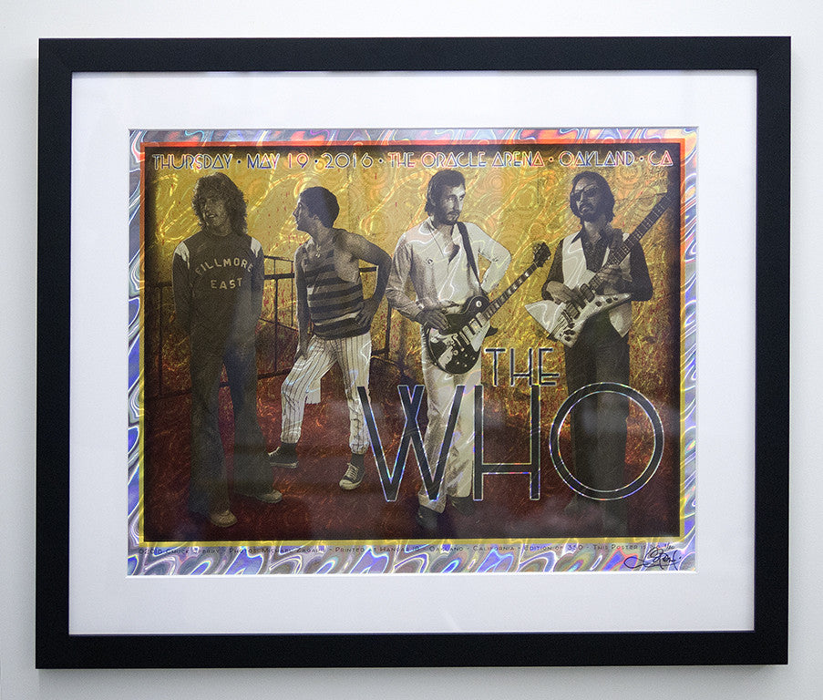 "Chuck Sperry - ""The Who, Oakland 2016"" (holographic lava foil edition)"
