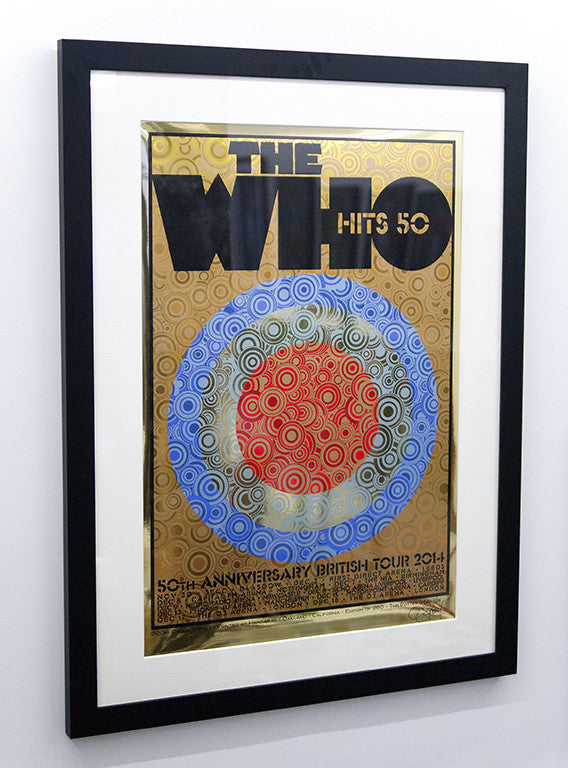 "Chuck Sperry - ""The Who, 50th Anniversary British Tour 2014"" (gold mirror foil edition) - Spoke Art"