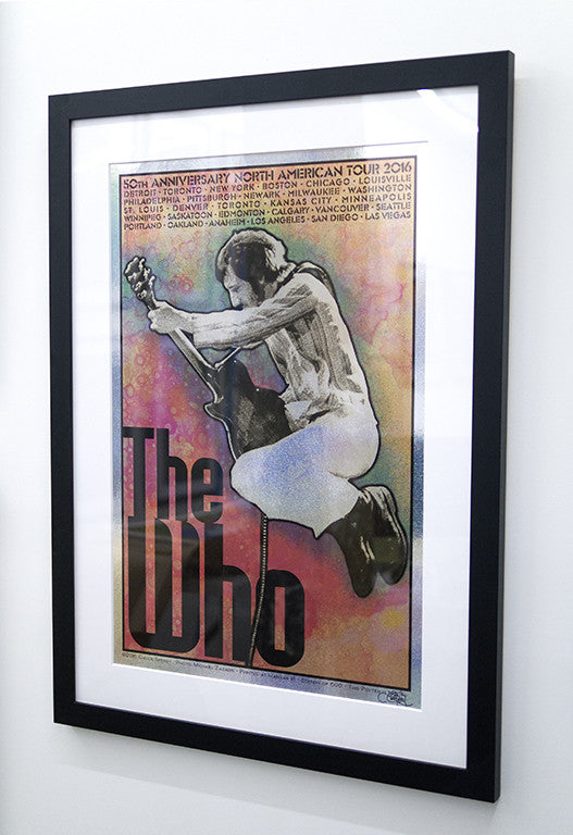 "Chuck Sperry - ""The Who, 50th Anniversary North American Tour 2016 'Pete'"" (holographic sparkle foil edition)"
