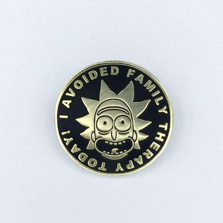 I Avoided Family Therapy Today! - Rick And Morty Enamel Pin - Spoke Art