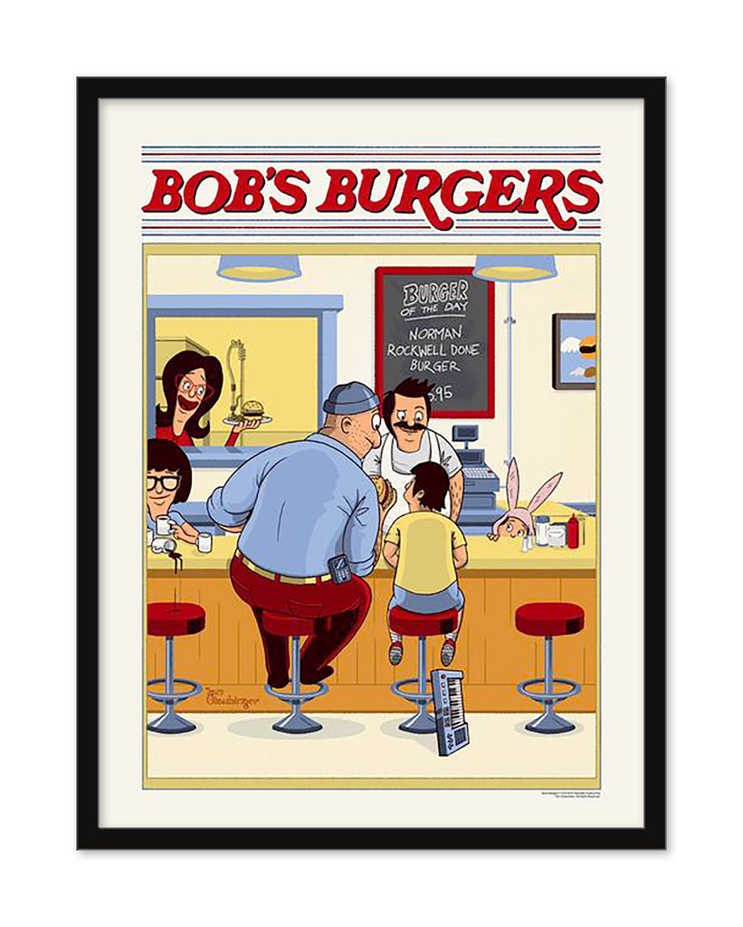 "Ian Glaubinger - ""Norman Rockwell Done Burger"" - Spoke Art"