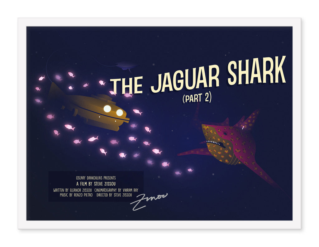 "Jeany Ngo - ""AUTHENTIC Steve Zissou Signed Jaguar Shark Part 2 Poster"""