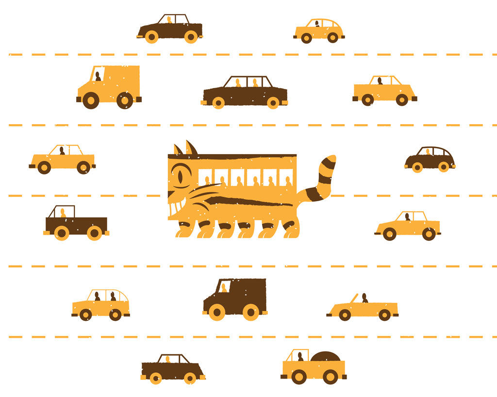 "James Olstein - ""Catbus in Traffic"""