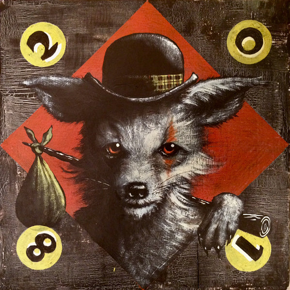 "Mike Shine - ""Dominek, Carny Hobo Fox"" - Spoke Art"