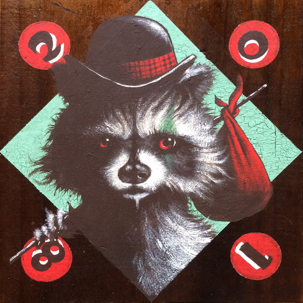 "Mike Shine - ""Earl the Hobo Carny Coon"" - Spoke Art"