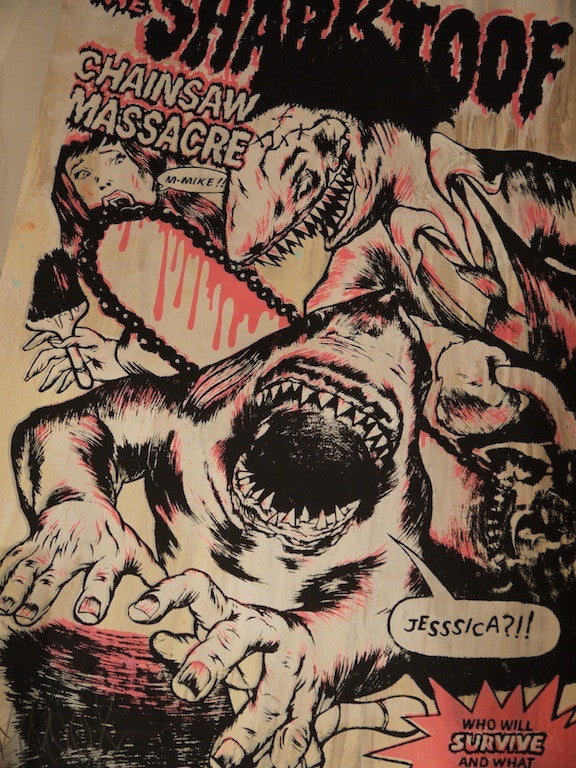 Shark Toof - Chainsaw Massacre Print - Spoke Art